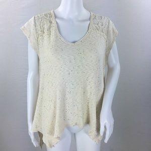 anthropologie everleigh crocheted sweater L